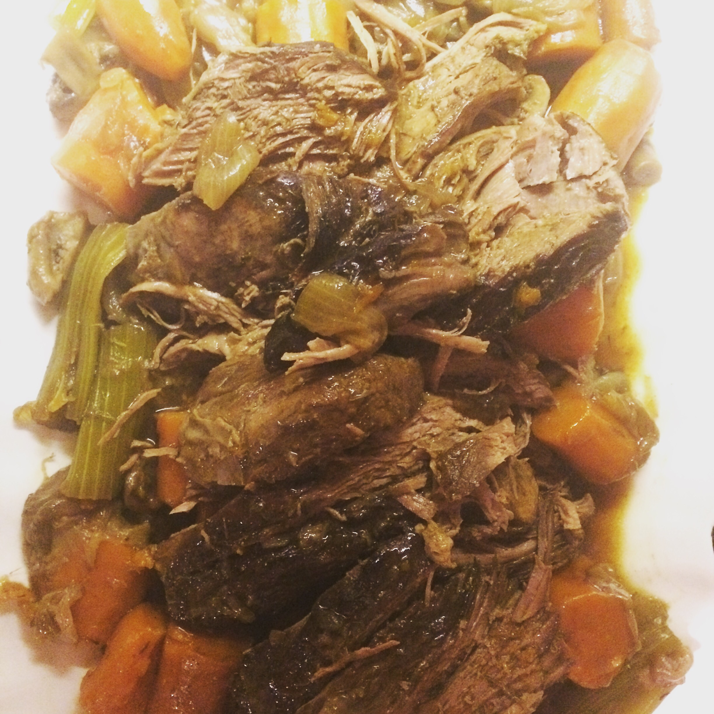 Spiced Autumn Roast with Carrots, Celery and Mushrooms